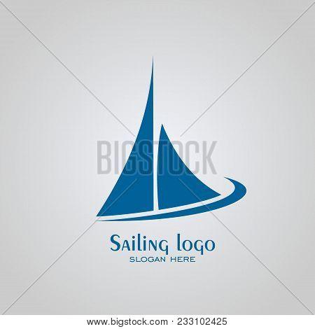Sailing Logo Design, Sailboat Logo, Vector Icons.