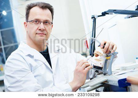 prosthetist dentist male portrait