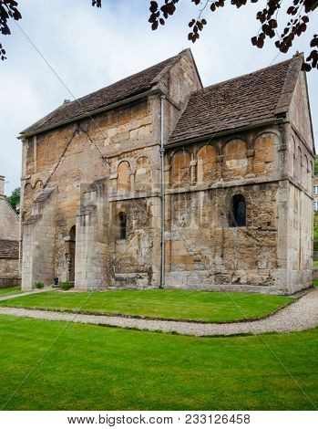 St Laurence's Church in Bradford on Avon, one of very few surviving Anglo-Saxon churches in England, Wiltshire, Southwest England, UK