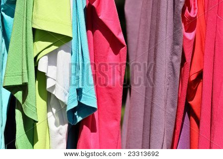 A Set Of Bright T-shirts