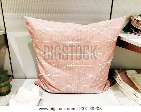 Soft Colored Pillow Sold In The Store. Stylish Soft Pillows