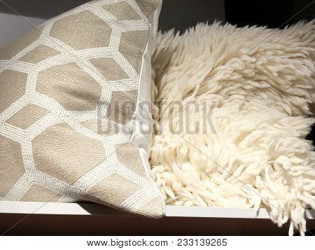 Soft Colored Pillows Sold In The Store. Stylish Soft Pillows