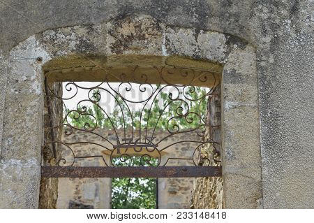 Destroyed House With Window During World War 2 In Oradour Sur Glane France