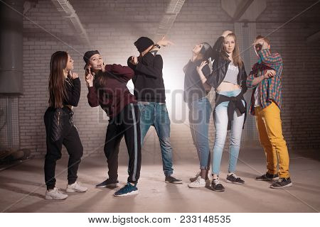 Teenagers Living The Part In Performance