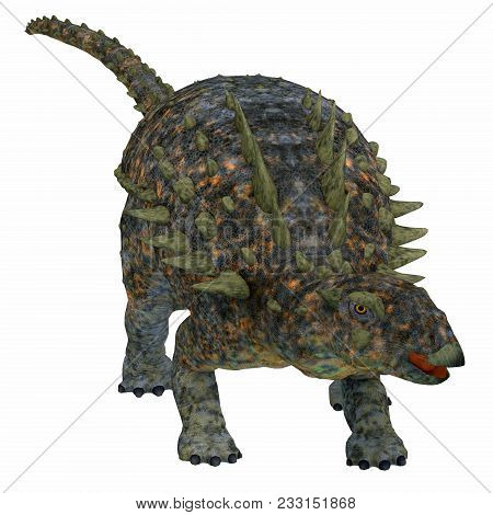 Polacanthus Dinosaur On White 3d Illustration - Polacanthus Was An Armored Herbivorous Dinosaur That