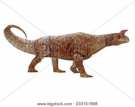Shringasaurus Dinosaur Side Profile 3d Illustration - Shringasaurus Was A Herbivorous Sauropod Dinos
