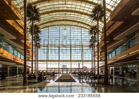 Detroit, Michigan, Usa - March 18, 2018: Interior Of The Detroit Renaissance Building At The Winterg