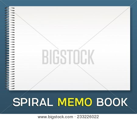 Spiral Album-notepad. Horizontal A Simple Cover For Pasting Your Images Is A Template. Lies On The T