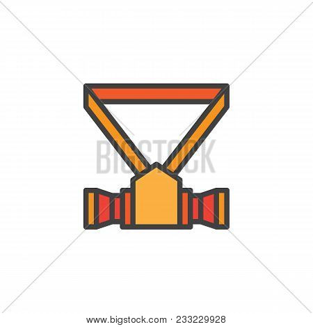 Respirator Filled Outline Icon, Line Vector Sign, Linear Colorful Pictogram Isolated On White. Safet