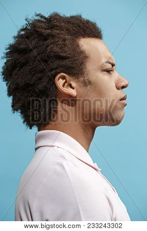 I Am Tired Of Everything. Sad Man. Boring, Dull, Tedious Concept. Young Afro Emotional Man. Human Em