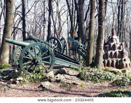 Cannons In Skobelev Park, Pleven, Bulgaria