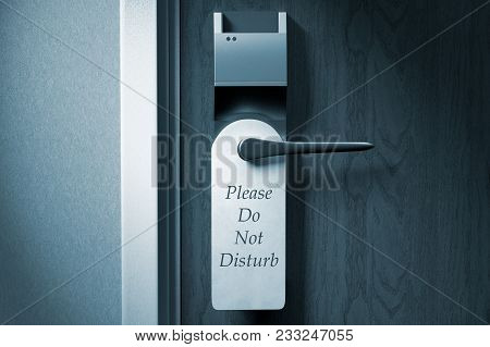3d Rendering Of A Knob Of A Hotel Door With