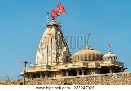 Hindu Temple At Chittorgarh Fort. Unesco World Heritage Site In Rajastan State Of India