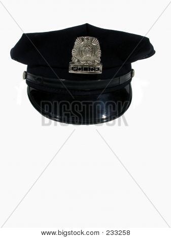 Police Hat Straight On