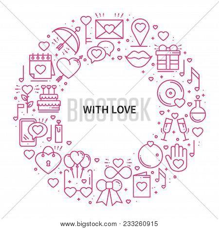 Circle Frame Love Vector & Photo (Free Trial) | Bigstock