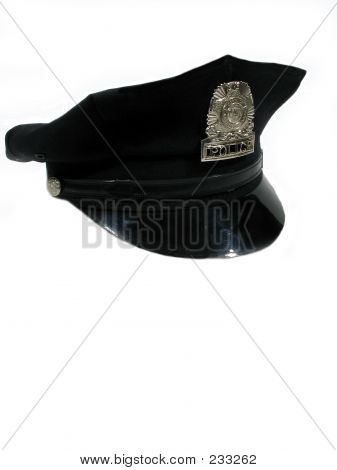 Police Hat Turned Right