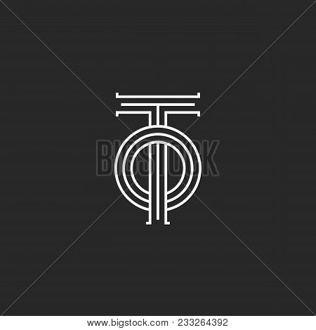 Initials Letters To Logo Monogram, Overlapping Two Letters T And O Parallel Lines Linear Design, Sim