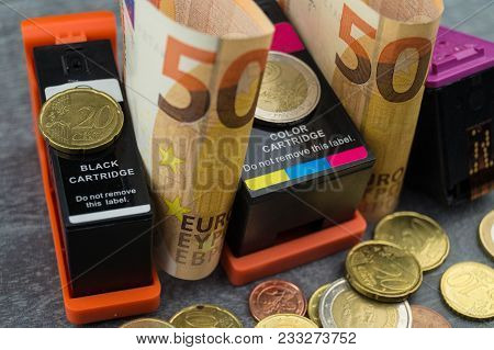 Expensive Printing Costs - Rising Costs Due To The Consumption Of Inks And Toners Makes Every Print