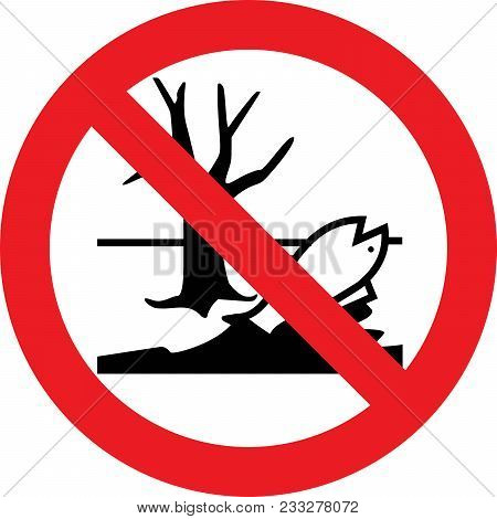 No Harmful Chemicals Allowed Sign On White Background