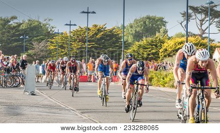 Saint Gilles Croix De Vie, France - September 10, 2016 : Final Triathlon Championship Of France In T