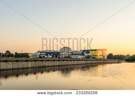 Belgorod, Russia - August 05, 2017: View From The Embankment Of River At Training Complex Svetlana K