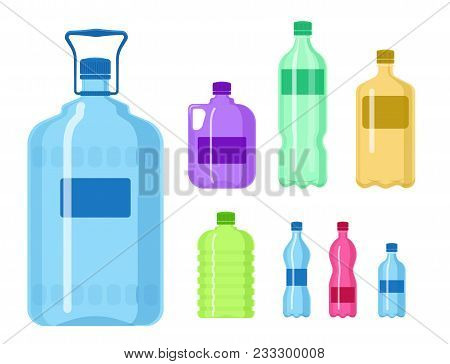 Plastic Water Bottle Vector Blank Nature Clean Liquid Aqua Fluid Blank Template Silhouette Template