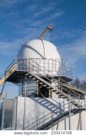 Special Astrophysical Observatory Of Russian Academy Of Sciences Located In Mountain Area. Caucasus,