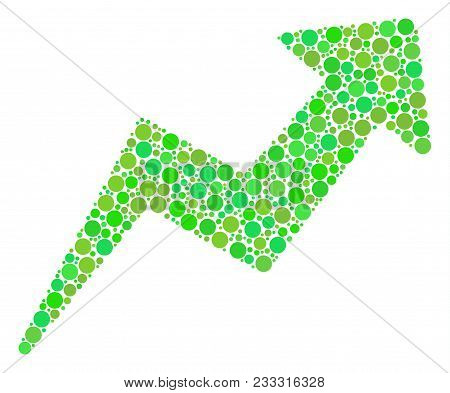 Trend Composition Of Filled Circles In Variable Sizes And Eco Green Color Tints. Vector Circle Eleme