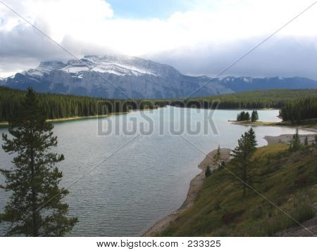 Two Jack Lake  Banff National Park Alberta Canada