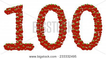 100 Text Collage Of Tomato. Vector Tomato Elements Are Grouped Into 100 Text Collage. Diet Vector De