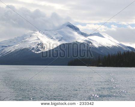 Mt. Unwin, Maligne Lake - Jasper National Park, Alberta, Canada