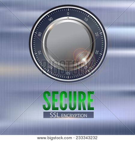 Secure Ssl Connection 3d Illustration With Digital Lock. Concept Security Of Information And Data Pr