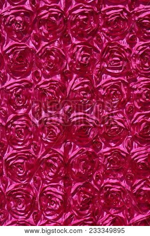 hot pink rose pattern drapes. rose pattern background. seamless background