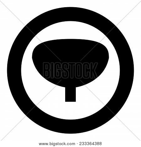 Bladder The Black Color Icon  In Circle Or Round Vector Illustration