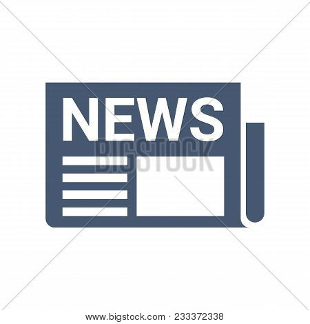 Newspaper Or News Icon. Daily Or Weekly News Publication. Flat Vector Illustration Isolated On White