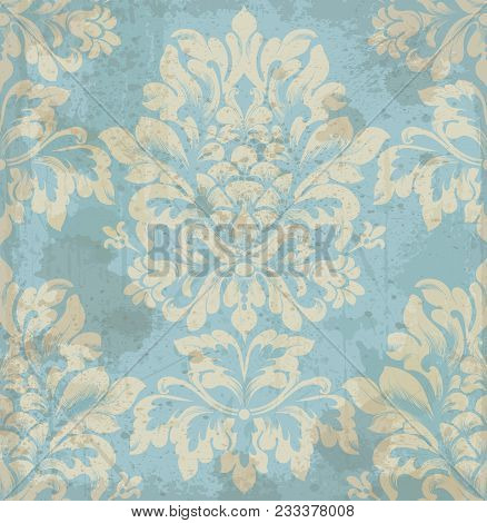 Vector Damask Pattern Element. Classical Luxury Old Fashioned Ornament, Royal Victorian Royal Textur