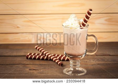 Glass Coffee Irish Irish Coffee Whip Cream Table Bar