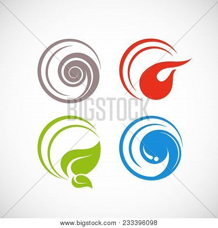 Four Forces Elements Vector & Photo (Free Trial) | Bigstock
