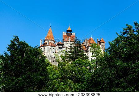 The Castle of the Dracula. Romania, the transylvania castle of Vlad Tepes, Dracula.