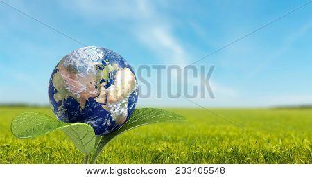 Sphere White Blue Ball Crystal Glass Transparent