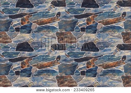 Seamless Texture Stone Wall. Seamless Background. Marble Pattern