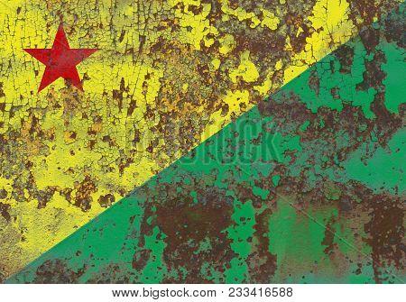 Acre Grunge Flag, State Of Brazil, Old Flag