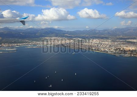 Aerial View Of Palma De Majorca. Spain. Europe