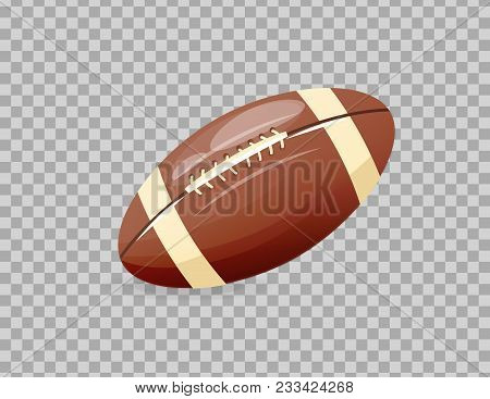 Beautiful Realistic Classic, Rugby Ball, Playing Football. Competitive Games, Physical Education, Ho