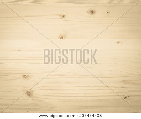 Pine Wood Texture Woodgrain Background In Old Aged Yellow Sepia Brown Color