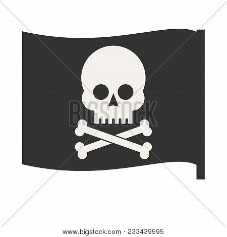 Pirate Vector Flag. Jolly Roger. Stock Flat Vector Illustration.