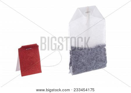 Classic Teabag Red Label Isolated On White Background