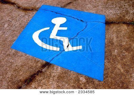 Distressed Handicapped Parking Symbol