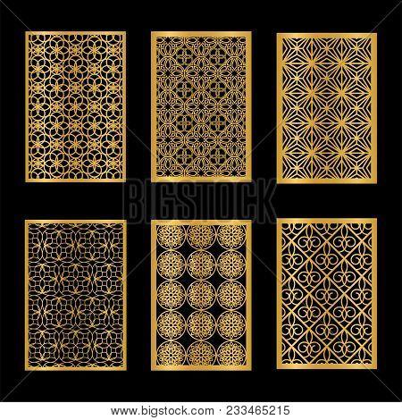 Set Of Laser Cut Ornamental Panels.cutout Paperwork. Wood Carving.