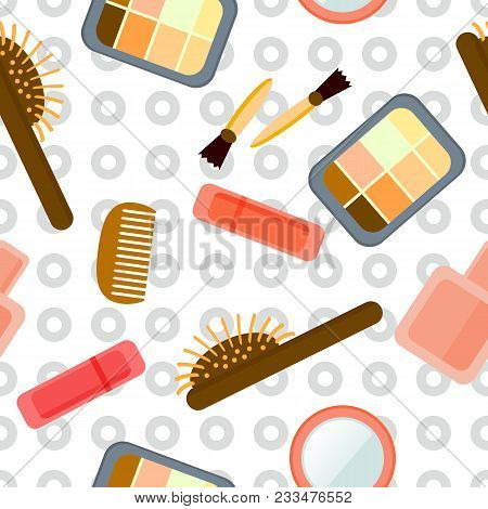 Texture - Cosmetics, Makeup, Beauty, Style, Accessories. Professional Makeup Artist Background. Seam